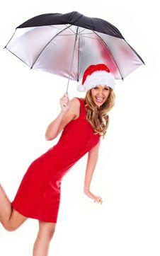Free Santa Girl Royalty Free Stock Photos - 7043198
