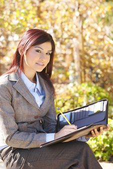 Free Business Woman Taking Notes Stock Photo - 7043200