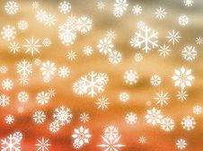 Snowflakes In The Sky Royalty Free Stock Photos