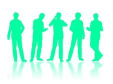 Free Businessmen Silhouettes Stock Photo - 7043240
