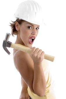Free Architect With Hammer Stock Image - 7043621