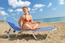 Free Nice Girl On The Beach Royalty Free Stock Image - 7043706