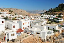 Free Traditional Greek Houses In Lindos Stock Photos - 7043713