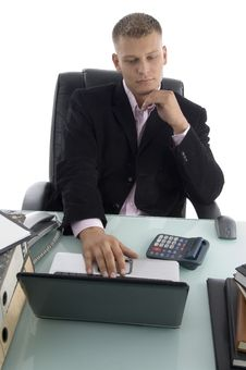 Free Businessman Working On Laptop Stock Images - 7043794