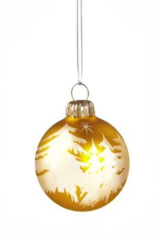 Free Christmas Golden  Ball Stock Photos - 7044013