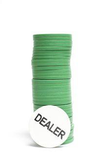 Casino Poker Chips Stock Photography