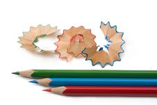 Chippings  And Pens Stock Photo