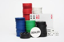 Free Casino Poker Chips Stock Photos - 7045593