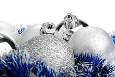 Free Silver Christmas Balls Stock Photos - 7046023