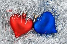 Free Christmas Red And Blue Ornaments. Royalty Free Stock Photos - 7046028