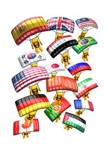 Free Parachute Country Flag Stock Image - 7046201