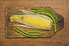 Free Green Beans And Corn Stock Photography - 7046732