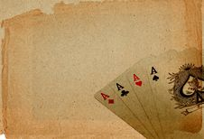 Free Ace Cards Royalty Free Stock Image - 7047036