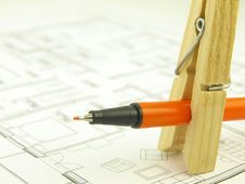 Free Build A House And Architect Tools Stock Photography - 7047352