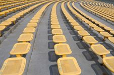 Free The Iron Seats In Stadium Royalty Free Stock Photography - 7047487