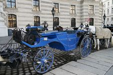 Free The Dark Blue Carriage Stock Image - 7047851