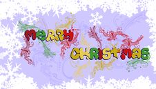Free Multicolored Merry Christmas Stock Images - 7048214