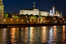 Free Moscow Kremlin At Night Stock Photo - 7048310