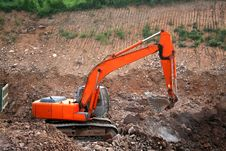 Free Excavator At Construction Site Royalty Free Stock Photo - 7048745
