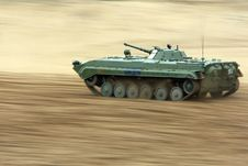 Free Tank Rides On The Field Royalty Free Stock Photo - 7049085