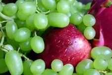Apple And Grape Stock Photos