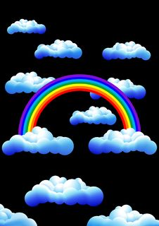 Free Rainbow_in_the_night Royalty Free Stock Photos - 7049228