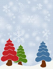 Textured Christmas Trees Royalty Free Stock Photos