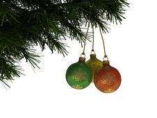 Free Christmas Balls Stock Photography - 7049862