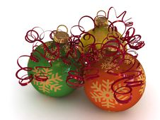 Free Christmas Balls Royalty Free Stock Photos - 7049878