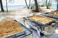 Free Buffet Lunch In The Island Stock Photography - 7052512