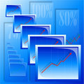 Free Background With Graphs Royalty Free Stock Photos - 7054388