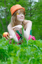 Free Nice Girl In Bonnet Royalty Free Stock Images - 7058039