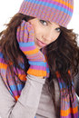 Free Portrait Of Winter Girl Stock Images - 7058944
