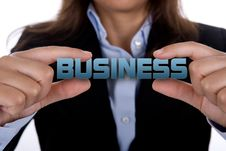 Free Businesswoman Holding Message In Her Hands Stock Images - 7050824