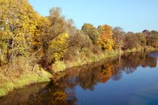 Free Autumn River Stock Photography - 7051362