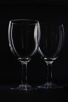 Free Two Empty Wine Glasses. Stock Image - 7051491