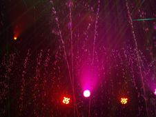 Free Fountain And Purple Lights Royalty Free Stock Images - 7051559