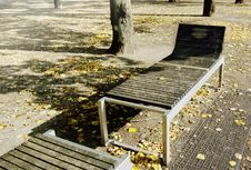 Free Bench In The Park At Autumn, Berlin Stock Photo - 7051560