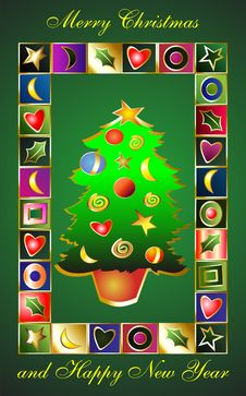 Free Christmas Abstraction. Stock Images - 7051604