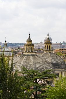 Roofs Of Several Round Buildings Royalty Free Stock Photos