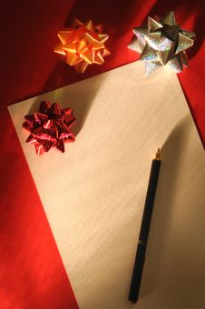 Free Christmas Letter Royalty Free Stock Photo - 7052505