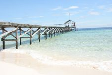 Free Pier At Beach Stock Photography - 7052522