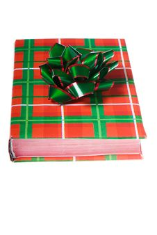 Free Book Christmas Colors Green Red Bow Royalty Free Stock Photos - 7052628