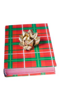 Free Book Christmas Colors Golden Bow Stock Photos - 7052683