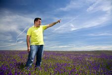 Free Young Man In A Field Stock Photos - 7052813