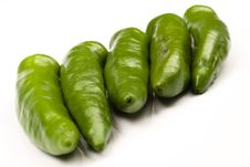 Free Green Hot Peppers Stock Photo - 7052980