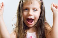 Cute Little Girl Have A Fun. Royalty Free Stock Photo