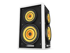 Free Three Dimensional Front View Of Loud Speaker Royalty Free Stock Image - 7053176