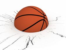 Free Front View Of Basket Ball Royalty Free Stock Photography - 7053247