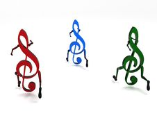 Three Dimensional Musical Notes Stock Images